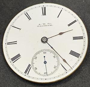 Waltham WM Ellery Pocket Watch Movement 18s 11j Hunter 1877 Ticking F2137