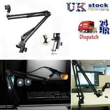 Foldable Microphone Mic Suspension Boom Arm Desktop Table Stand Holder Mount UK