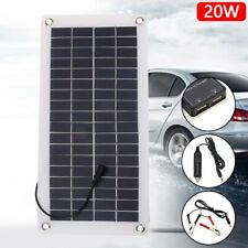 Solar Panel 20W 12V Trickle Charge Battery Charger Kit for Maintainer Boat Car p