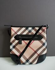 Burberry Nova Check Black Patent Cross body Bag