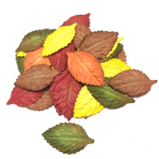 Fall Mix Large Mulberry Paper Leaves Flowers Crafts Card Making Leaf26
