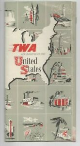 1954 TWA, AIR ROUTES IN THE U.S.A.,FLIGHT MAPS (Trans World Airlines)