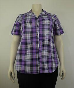 Womens checked shirt half sleeve, (sizes 14/28)
