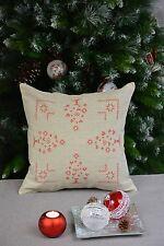 Kissenhülle  Kissenbezug Christmas Weihnachten Leinenoptik Bestickt 40/40 cm