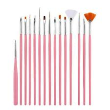 15PC Nail Art Design Painting Dotting Detailing Pen Brushes Bundle Tool Kit Set