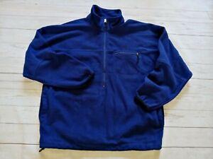 Vintage Nike ACG Men's Relaxed Fit 1/2 Zip Pullover Fleece Jacket Blue XL/2XL