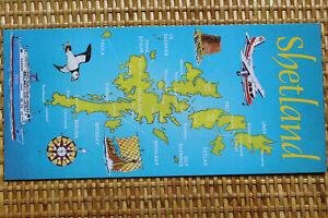 Mint MAP Postcard : SHETLAND ISLANDS - Long Size