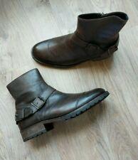 Belstaff Trialmaster Leather Ankle Boots Men's EU 42 Brown $595