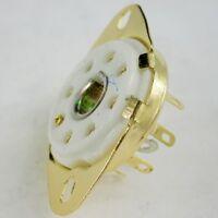 8pc gold 8pin Ceramic vacuum tube socket loctal for 5B254 audio amp DIY guitar