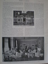 Printed photo Government House Aldershot before and after fire 1903
