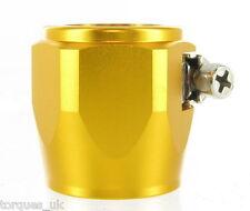 Un -6 (AN6) 12.5 mm Dorado aceite combustible de teflón agua Manguera Abrazadera rematador