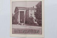 23671 Reise Prospekt Meiningen in Thüringen um 1930