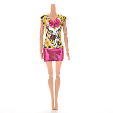 1Pcs Fashion Sexy Dress Leopard Cat Skirt For s Doll with Bowknot Fc
