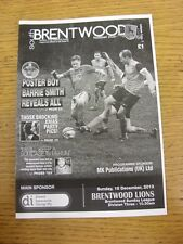 15/12/2013 South Brentwood v Brentwood Lions  . Thanks for viewing this item, we