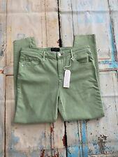 "Sanctuary Social Women's Green Denim Ankle Skinny Standar Rise Jeans Size 30"""
