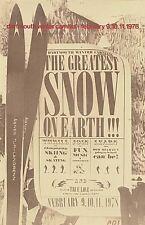 Original Dartmouth Winter Carnival Poster 1978