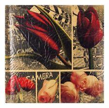 "Vintage Flowers Eco Leather Slip In Photo Album 200 6"" x 4"" Photos Memo Gift"