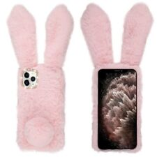 Fluffy Bunny Plush Faux Fur Case for iPhone 11 Pro Max - Pink