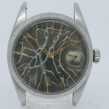 VINTAGE 1950's Tudor 7944 Black Waffle Dial Mens Automatic Watch = PARTS REPAIR