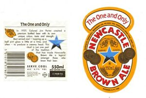 OLD BEER LABEL/S  - UK - NEWCASTLE BROWN ALE - THE ONE AND ONLY