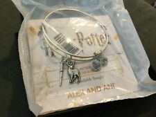 Alex & Ani Harry Potter Wand and Patronus Silver Duo Charm Bangle NWT Sealed