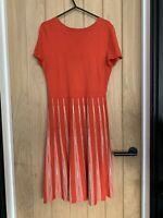 Hobbs red orange knit Summer Dress Size 10 spring smart casual