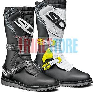 Sidi Zero 2 2021 Trials Riding Boots Black or Black/White/Yellow -Offroad FreePP