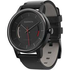 Garmin 01597-12 vivomove Smart Watch Leather Band Black