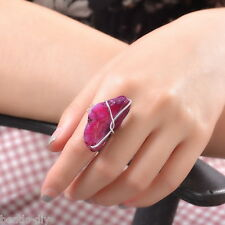1PC BD New Fashion Women Fine Purple Crystal Adjustable Homemade Jewelry Ring