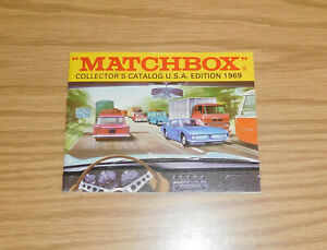 MATCHBOX ORIGINAL 1969 COLLECTOR'S CATALOG EDITION USA EDITION CARS TRUCKS TOYS