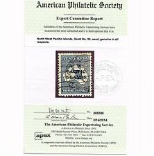 North West Pacific Islands Nwpi Scott #30 'A' Overprint Gibbons #107 Aps Cert