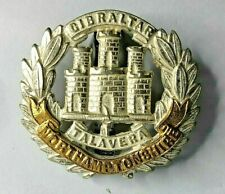 WW2 & later Northamptonshire Regiment Officers silver plate & Gilt Cap Badge