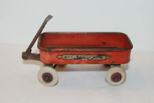 "Vintage Miniature Red Radio Flyer Wagon 2""x4"""