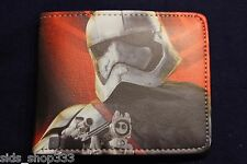 Star Wars Stormtrooper Red bi fold wallet Storm Trooper force yoda US Seller
