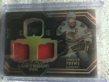 16/17 UD Black Jonathan Toews Lustrous Ink Gold 2/10 Auto