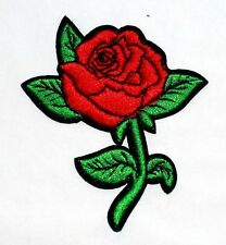 Red Rose Flower Lady Tattoo Motorcycles Biker Harley Jacket Backpack Iron Patch