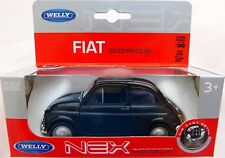 Welly  Fiat Nuova 500 in schwarz ca.10,5 cm lang
