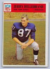 1966  JERRY HILLEBRAND  - Philadelphia Football Card - # 123 - NEW YORK GIANTS
