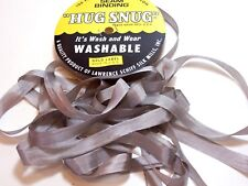 Light Gray Seam Binding x 100 Yards, Rayon, Hug Snug, Tumbleweed Gray Ribbon