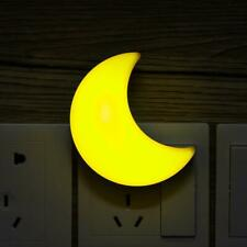 Crescent Moon US Plug Auto Sensor LED Night Light Lamp for Boys Girls Kids