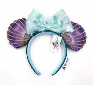 Disney Parks Mermaid Ariel Purple Iridescent Disneyland Minnie Ears Headband
