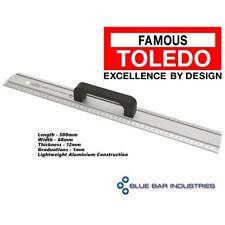 Aluminium Cutting Rule Metric 500mm TOLEDO Trade Tool Straight Edge