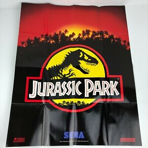 Jurassic Park Sega Genesis Welcome to the Next Level Poster Folded1992