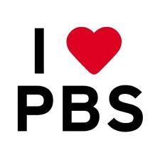 """I love Heart PBS Public Broadcasting Democrat Pin Button 2 1/4"""""""