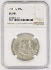 1961-D Franklin Half Dollar 50C Silver NGC MS64