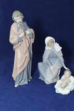 Nao by Lladro 3 pc. Nativity figurine set, Joseph, Mary and Baby Jesus  w/boxes