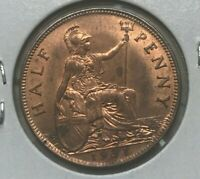 1931 Great Britain 1/2 Half Penny - Uncirculated Red