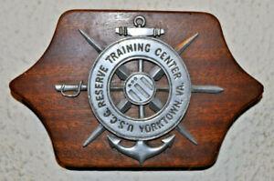 Small United States Coast Guard Reserve Training Center Yorktown VA plaque USCG