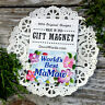 WORLDS BEST MAMAW  * MAGNET Pretty floral fridge Gift NEW * Appreciation * USA