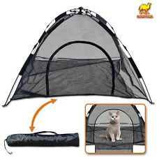 New Portable Pet Cat Play Tent Large Instant Mesh Feline Fun House Anti Mosquito